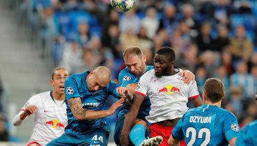 5ноября. Санкт-Петербург. «Зенит»— «Лейпциг»— 0:2. Сине-бело-голубые вовторой раз проиграли немецкой команде.