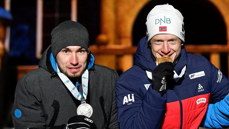 Александр Логинов иЙоханнес Бе. Фото Reuters