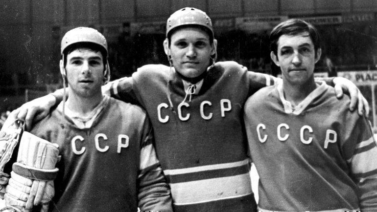 Валерий Харламов, Владимир Петров, Борис Михайлов. Фото Анатолий Бочинин