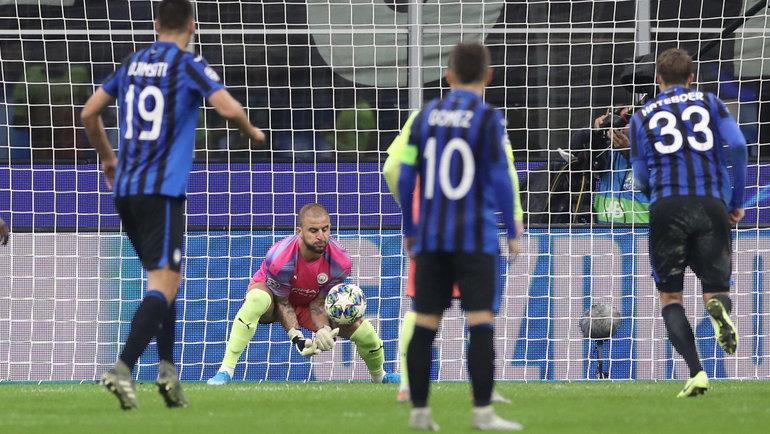 6ноября. Бергамо. «Аталанта»— «Манчестер Сити»— 1:1. Вигре Кайл Уокер. Фото Reuters