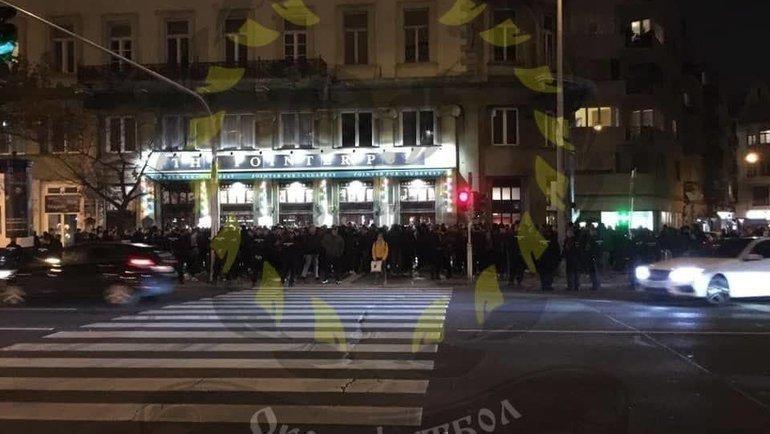Группы фанатов пересеклись специально. Фото Telegram-канал Ofnews