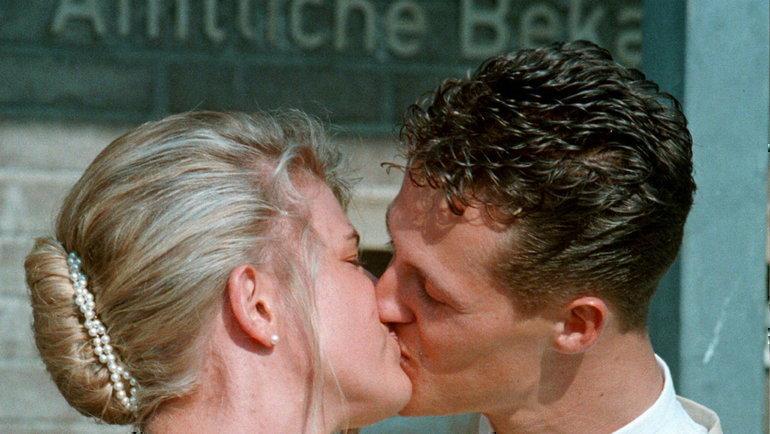 1995 год. Свадьба Михаэля иКоринны Шумахер. Фото Reuters