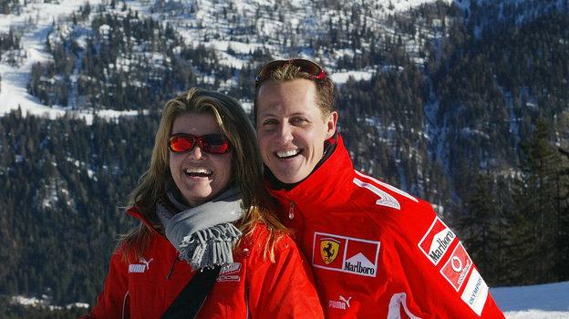 2005 год. Михаэль и Коринна Шумахер. Фото AFP