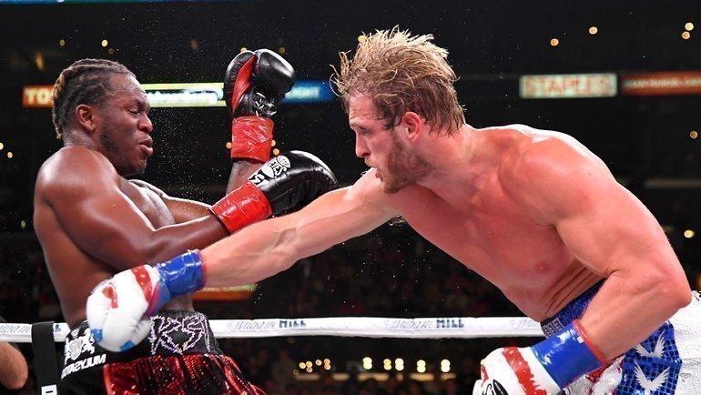 9ноября. Лос-Анджелес. KSI иЛоган Пол (справа). Фото AFP