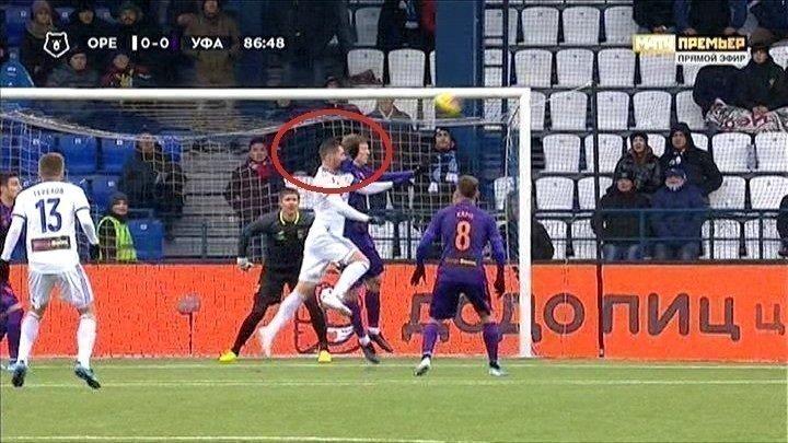 87-я минута матча «Оренбург»— «Уфа».