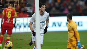 10ноября. Тула. «Арсенал»— «Зенит»— 0:1. Сердар Азмун только что провел победный гол.