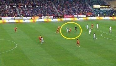 «Арсенал»— «Зенит»: почему арбитр неудалил тульского футболиста?