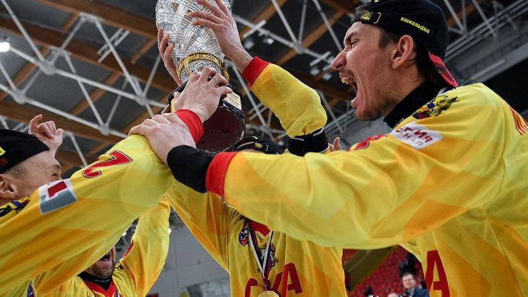 Действующий чемпион России «СКА-Нефтяник»—   один изглавных фаворитов стартовавшего первенства страны. Фото ФХРМ