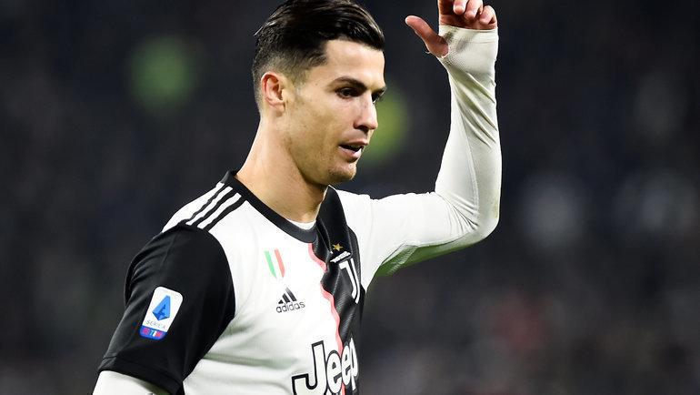 10ноября. Турин. «Ювентус»— «Милан»— 1:0. Эмоции Криштиану Роналду. Фото Reuters