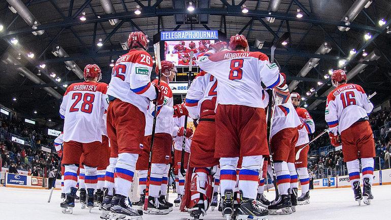 Сборная России выиграла второй матч Суперсерии. Фото ФХР