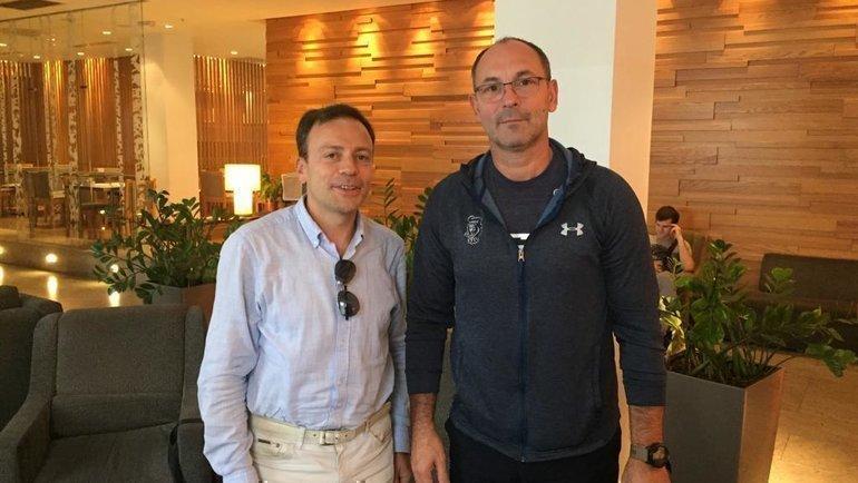 Сергей Зубов (справа) иИгорь Рабинер.