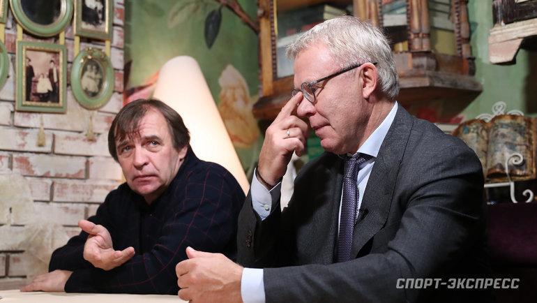 Александр Бородюк (слева) иВячеслав Фетисов. Фото Федор Успенский, «СЭ» / Canon EOS-1D X Mark II