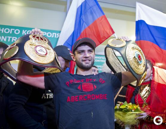 Чемпион мира по версии WBA в категории до 63,5 кг Хабиб Аллахвердиев.