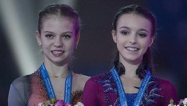 Александра Трусова (слева) иАнна Щербакова.