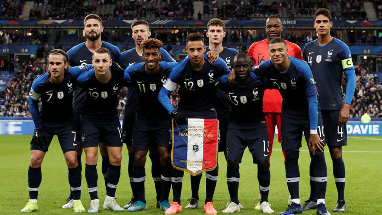 Чемпионы мира изФранции— вфинальном турнире Евро. Фото Reuters