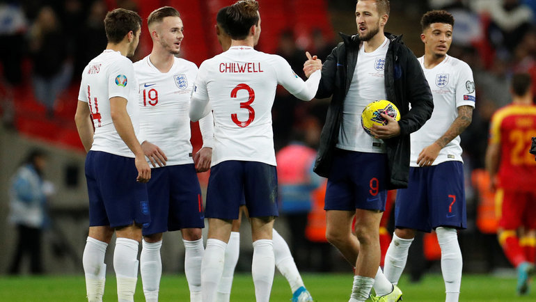 Англия вышла наЕвро-2020 после разгрома Черногории. Фото Reuters