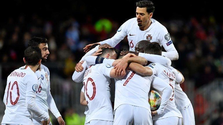 Чемпионы Европы изПортугалии— вфинальном турнире Евро-2020. Фото AFP