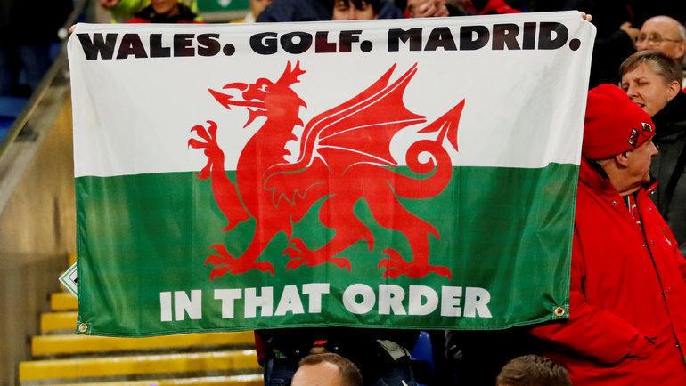 Флаг для Гарета Бэйла. Фото Reuters