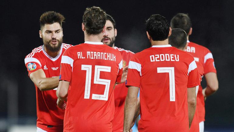 19ноября. Серравалле. Сан-Марино— Россия— 0:5. Россияне завершили отборочный турнир Евро-2020 крупной победой. Фото Reuters