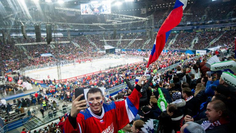«Газпром-Арена» уже знает, что такое хоккей. Фото ФК «Зенит»