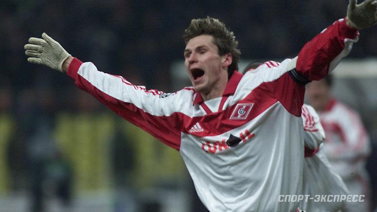 22ноября 2000 года. Москва. «Спартак»— «Арсенал»— 4:1. Егор Титов после гола.