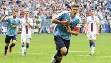Впервом круге РПЛ Александр Соболев дважды забил вворота ЦСКА.