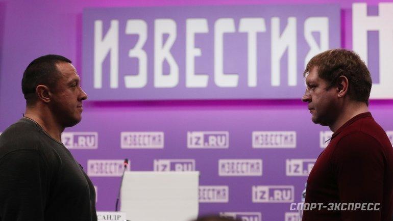 Михаил Кокляев иАлександр Емельяненко. Фото Александр Федоров, «СЭ» / Canon EOS-1D X Mark II
