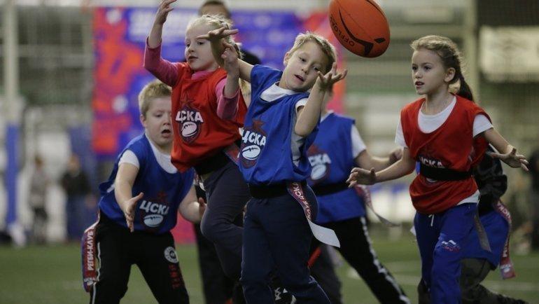 ВМоскве состоялся первый детский фестиваль ЦСКА потэг-регби.