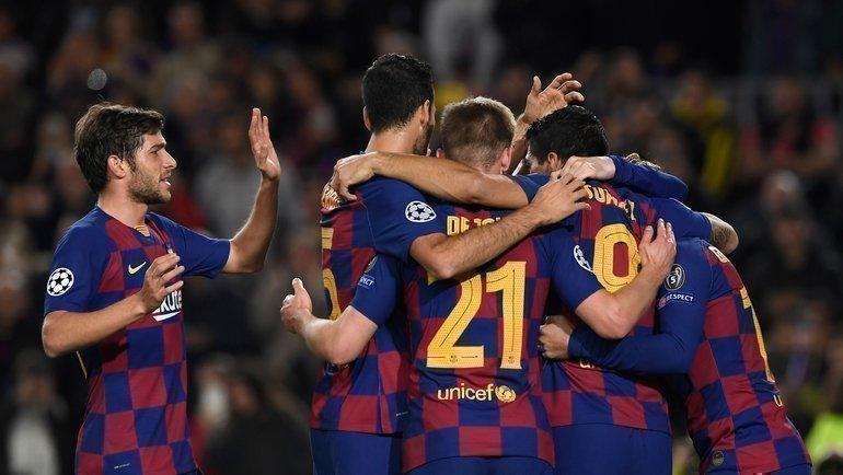«Барселона» иеще 7 команд вышли вплей-офф Лиги чемпионов. Фото AFP