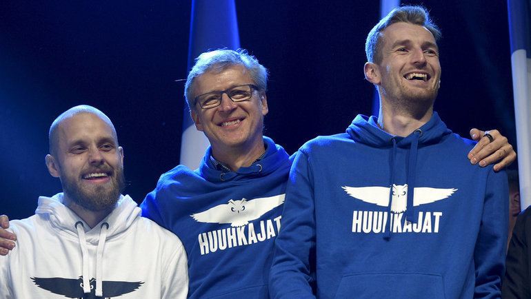 Теему Пукки, Маркку Канерва иЛукас Храдецки. Фото Reuters