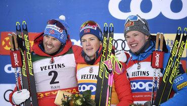 Эмиль Иверсен, Йоханнес Клебо иИво Нисканен (слева направо).