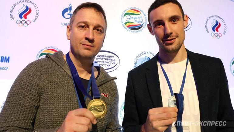 Юрий Голышак (слева) иВладимир Иванов. Фото Александр Федоров, «СЭ» / Canon EOS-1D X Mark II