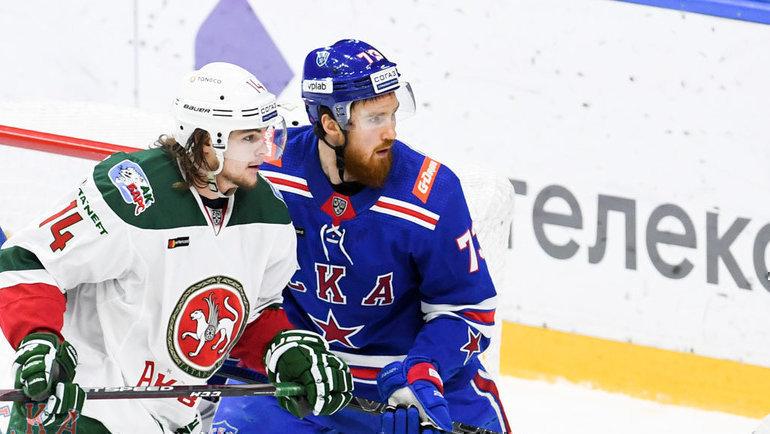 СКА обыграл «АкБарс» вматче чемпионата КХЛ. Фото ХКСКА