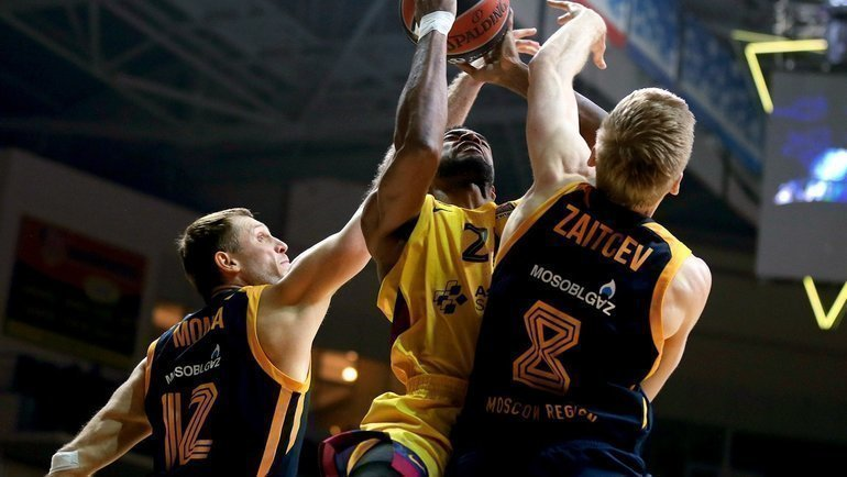 6декабря. Мытищи. «Химки»— «Барселона»— 94:102. Химчане неостановили каталонцев. Фото Euroleague.net