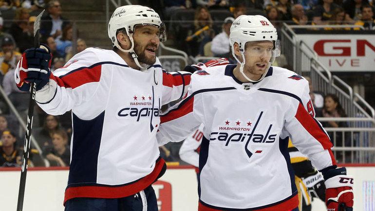 Евгений Кузнецов (справа) иАлександр Овечкин. Фото USA Today