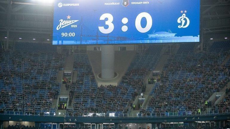 «Зенит» впятницу разгромил «Динамо» ивсубботу ушел в10-очковый зимний отрыв. Фото ФК «Зенит»