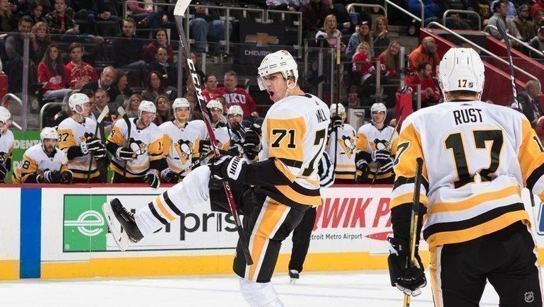 Евгений Малкин набрал 3 очка вматче против «Детройта». Фото НХЛ