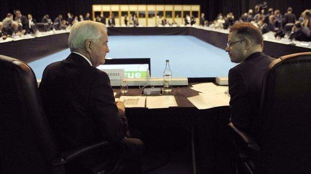Президент ВАДА Крейг Риди игенеральный директор Оливье Ниггли. Фото AFP
