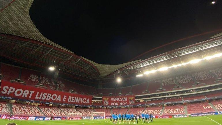 9декабря. Лиссабон. Тренировка «Зенита» настадионе «ДаЛуш». Фото ФК «Зенит»