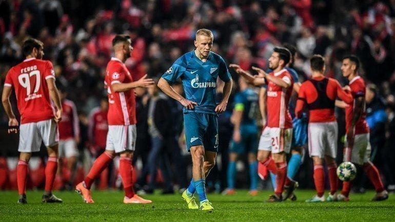 10декабря. Лиссабон. «Бенфика»— «Зенит»— 3:0. Сине-бело-голубые остались без евровесны. Фото AFP