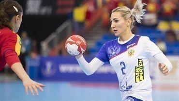 Игрок сборной России Полина Кузнецова.