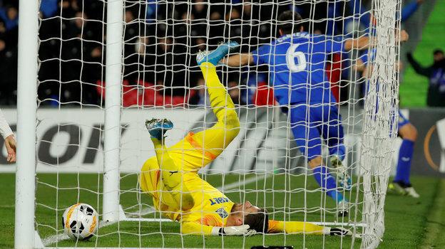 12декабря. Хетафе. «Хетафе»— «Краснодар»— 3:0.  76-я минута. Только что Леандро Кабрера поразил ворота Станислава Крицюка, открыв счет. Фото Reuters