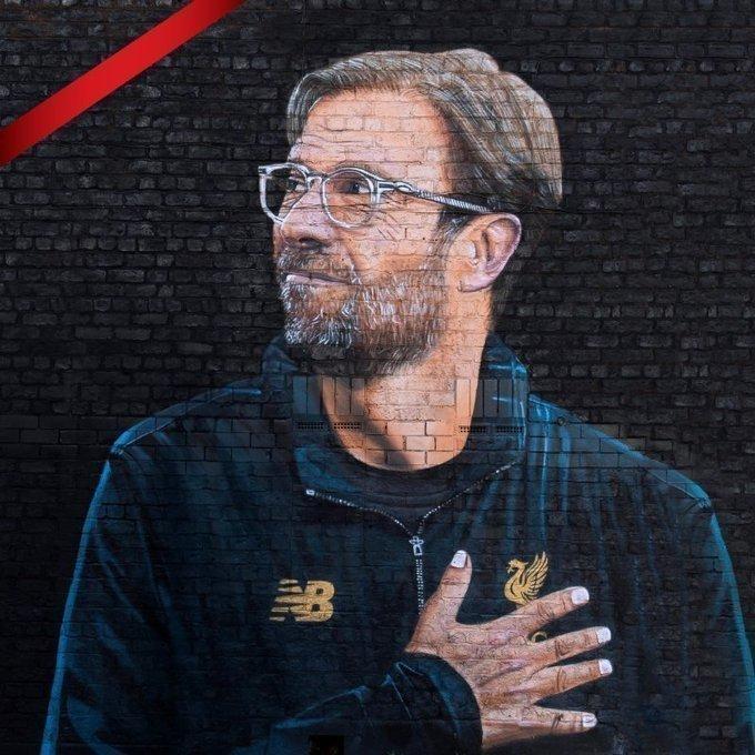 Граффити Юргена Клоппа всоцсетях «Ливерпуля».
