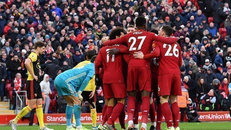 14декабря. Ливерпуль. «Ливерпуль»— «Уотфорд»— 2:0. Фото AFP