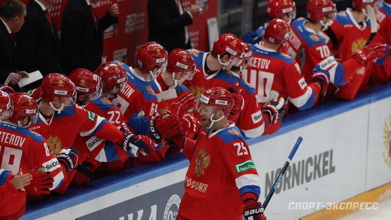 Сборная России победила Чехию наКубке Первого канала. Фото Александр Федоров, «СЭ» / Canon EOS-1D X Mark II