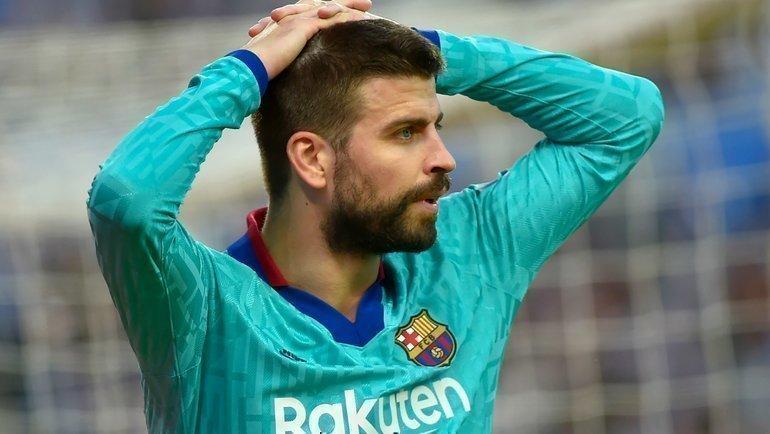 14декабря. Сан-Себастьян. «Реал Сосьедад»— «Барселона»— 2:2. Жерар Пике. Фото AFP