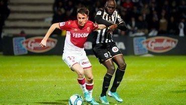 «Монако» сыграл вничью с «Анже», Головина заменили на79-й минуте