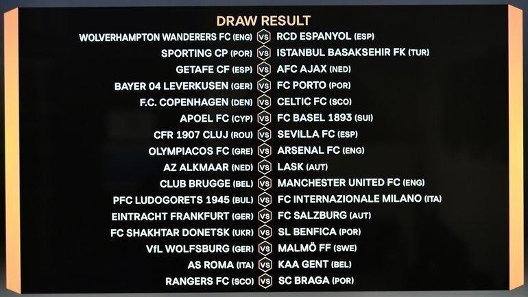 Лига Европы: пары 1/16 финала. Фото AFP