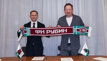 Леонид Слуцкий (справа) игенеральный директор «Рубина» Рустем Сайманов.