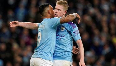 «Манчестер Сити» победил «Лестер», отставание от «Ливерпуля»— 11 очков